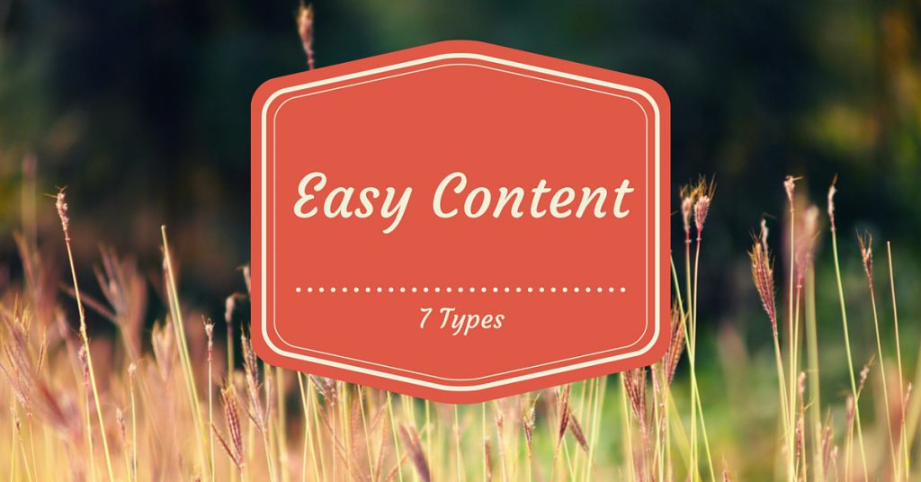 7 easy kinds of content feature